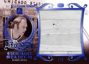Leaf In The Game Used Legends of Chicago Stadium