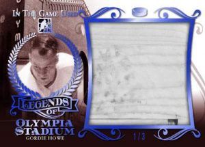 Leaf In The Game Used Legends of Olympia Stadium
