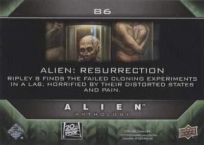 2016 Alien Anthology Base 86 Back Picture
