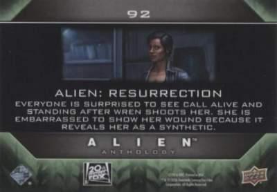 2016 Alien Anthology Base Card 96 Back