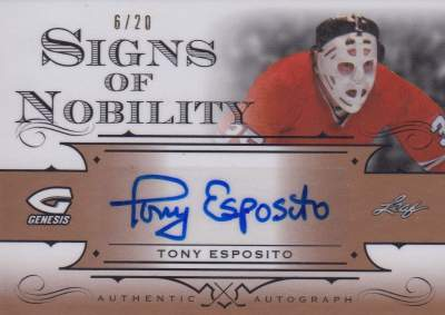 2016 Leaf Genesis Hockey Signs of Nobility Esposito