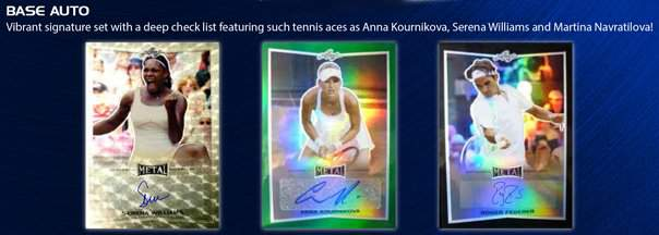 2016 Leaf Metal Tennis Base Autographs