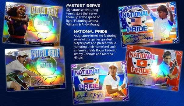 2016 Leaf Metal Tennis Fastest Serve and National Pride