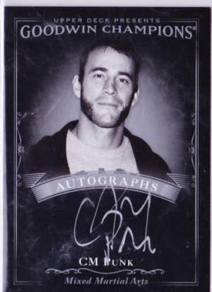 Black and White Autograph CM Punk
