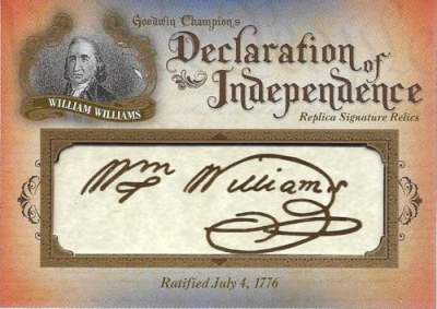 Goodwin Champions Checklist Declaration of Independence Facsimile Autograph