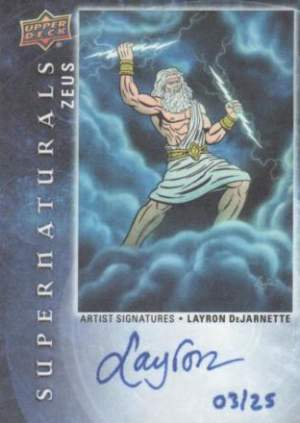Zeus Supernatural Card with Artist Autograph