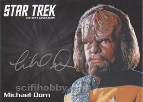 TNG Portfolio Autograph Michael Dorn