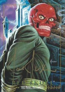 Marvel Masterpieces Red Skull buyback Autograph
