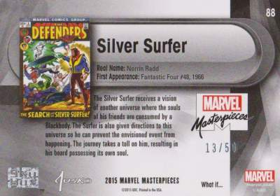 Silver Surfer SP /50 back
