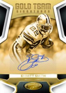Panini Certified Football gold team auto