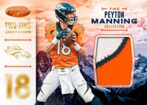 Panini Certified Football peyton manning mem