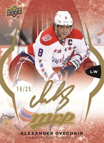 16-17 UD MVP Hockey Alex Ovechkin Super Scripts