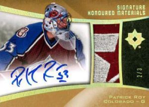 Ultimate Collection Honoured MAterials Signature Patrick Roy