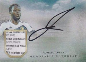 Futera Unique Memorable Auto Memorabilia Romelu Lukaku