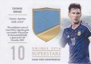Futera Unique Superstars Mem Lionel Messi