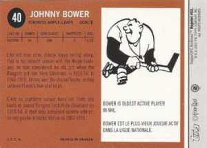 Topps O-Pee-Chee Archives Bower Base Back