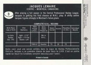 Topps O-Pee-Chee Archives Lemaire Back