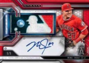Topps Strata Baseball Clearly Authentic Auto Relic Mike Trout