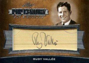 2016 Leaf Pop Century Vut Signatures Rudy Vallee Autographs
