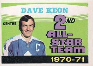1971-72 O-Pee-Chee Dave Keon All Star