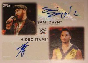 Topps WWE Heritage Dual Auto Sami Zayn Hideo Itami