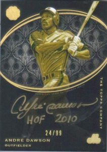 Mint Baseball Andre Dawson Gold Auto Wednesday Wrap-Up