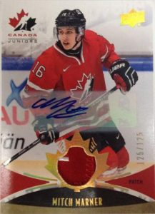 Team Canada Juniors Patch Auto Mitch Marner