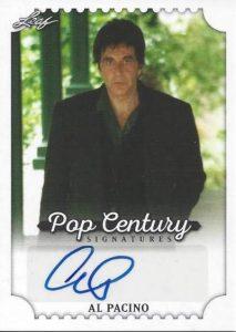 2016 Leaf Pop Century Signatures Al Pacini