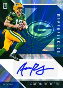Panini Unparalleled Football Base Auto Aaron Rodgers