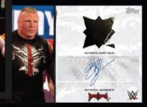 Topps WWE Heritage Lesnar Auto Relic