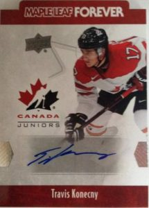 Team Canada Juniors Maple Leaf Forever Autographs Konecky