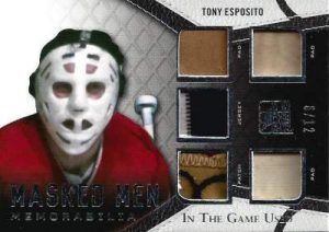 Leaf In The Game Used Hockey Masked Men Esposito