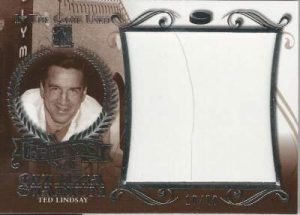 Leaf In The Game Used Hockey Legends of Olympia Stadium ted Lindsay