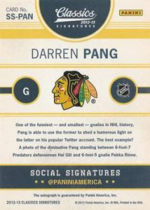 Panini Classics Signatures social back
