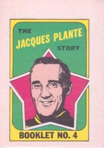 1971-72 O-Pee-Chee Booklets Jacques Plante