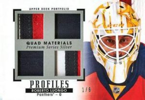 15-16 Upper Deck Portfolio Hockey Quad Jersey