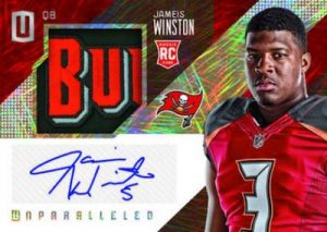 Panini Unparalleled Football RPS Rookie Jersey Auto