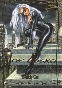 Marvel Masterpieces Gold Foil Signature Black Cat