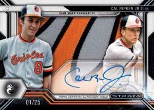 Topps Strata Baseball Signature Patches Cal Ripkin