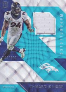 Panini Unparalleled Football Base Mem Damarcus Ware