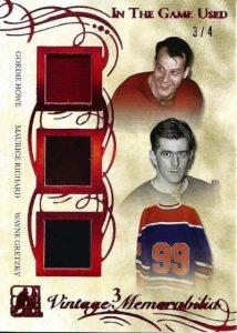 Leaf In The Game Used Hockey Vintage Trio