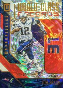 Panini Unparalleled Football World Class Records Tom Brady