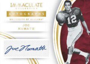 Immaculate Collegiate Football Joe Namath Base Auto