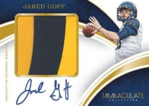 Immaculate Collegiate Football Signature Patches