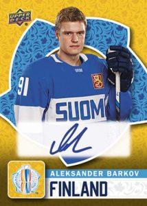 World Cup of Hockey Aleksander Barkov Autograph Team Finland