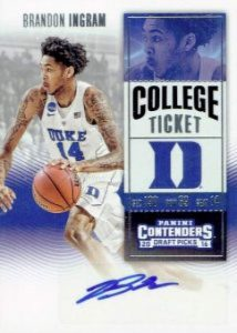 Draft Picks College Ticket Autos Brandon Ingram