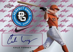 Perfect Game Metal Autographs Cole Turney