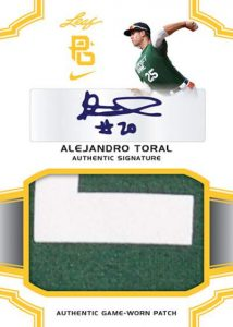 Perfect Game Patch Auto Alejandro Toral