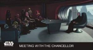 Star Wars Base Meeting with the Chancellor