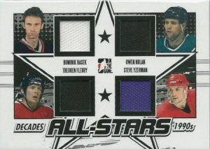 90s All Stars Dominik Hasek, Theo Fleury, Owen Nolan, Steve Yzerman
